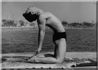 Bikram Choudhury doing Bow Pulling Pose