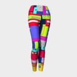 Image of space city yoga leggings