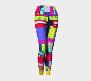 Image of space city yoga leggings
