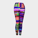 image of bright striped yoga leggings