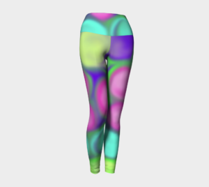 image of fruity colours yoga leggings