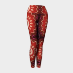 image of red explosion yoga leggings