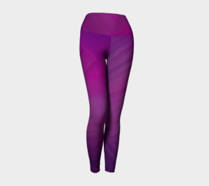 image of fuchsia pink yoga leggings