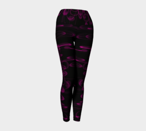image of rich pink and black yoga leggings