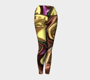image of liquid gold yoga leggings