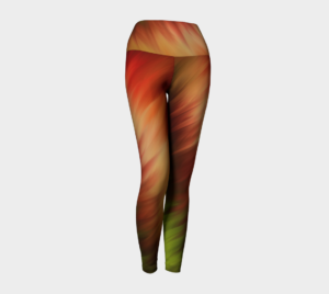 image of nature's feathers yoga leggings
