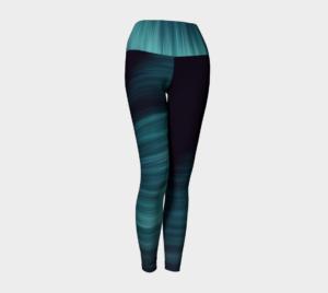 image of blue ice yoga leggings