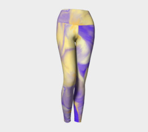 image of shells yoga leggings