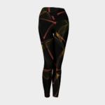 image of flaming yoga leggings