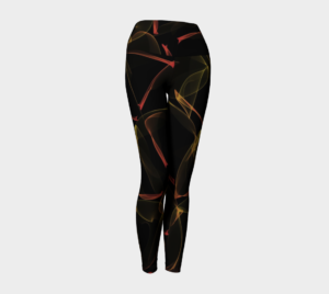 image of flaming yoga leggings