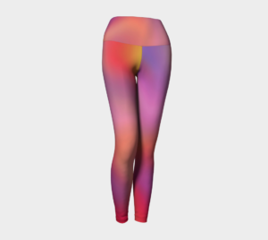 image of sugar candy yoga leggings