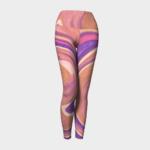 image of pink pastels yoga leggings