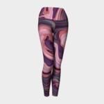 image of pink swirl yoga leggings
