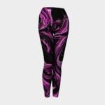 image of raspberry ripple yoga leggings