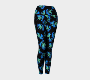 image of space invaders yoga leggings