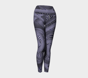 image of crazy nautical yoga leggings