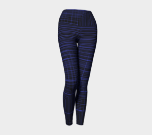 image of geometric yoga leggings