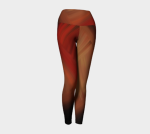 image of autumn yoga leggings