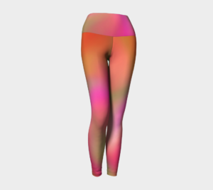 image of a summer's day yoga leggings