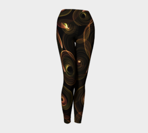 image of catherine wheel yoga leggings