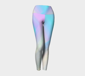 image of cosmic light yoga leggings