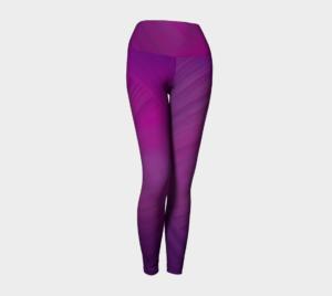 image of fuchsia pink yoga leggings