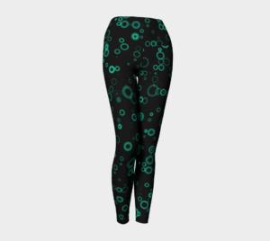 image of jade circles on black yoga leggings