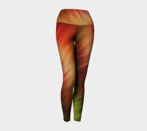 image of nature's feathers yoga leggings