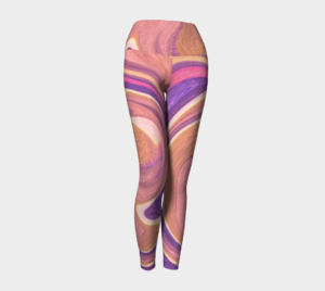 image of pink pastels yoga leggings