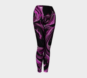 image of raspberry ripple yoga leggings
