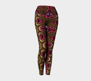 image of royal flush yoga leggings