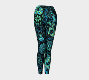 image of pretty in patches yoga leggings